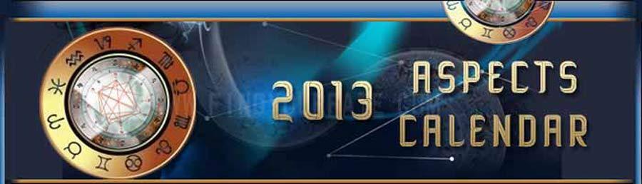 2013 Aspects Calendar