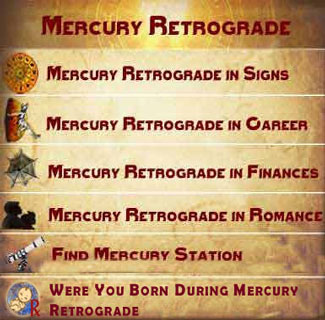 Mercury Retrograde, 2019 - The red shaded days are when