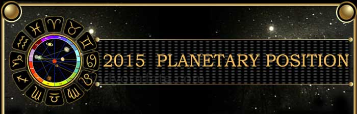 2015 Planetary Positions