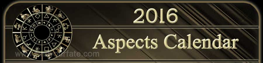 2016 Aspects Calendar