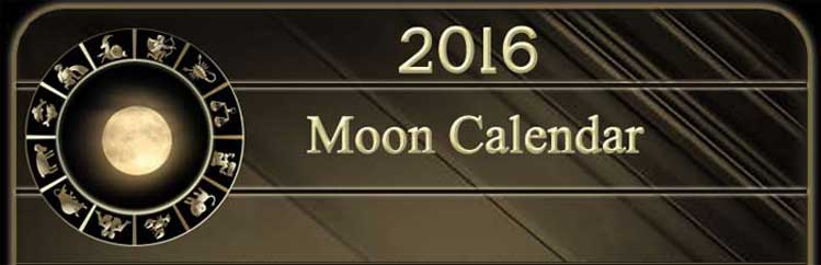 2016 Moon Calendar