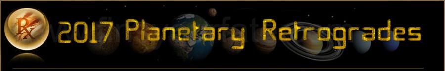 2017 Planetary Retrograde