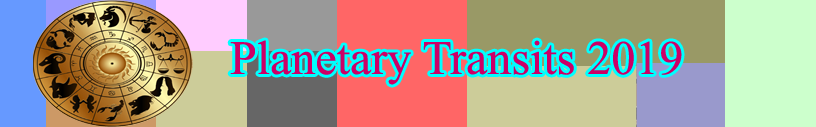 2019 Planetary Transits, astrology 2019 - Findyourfate com