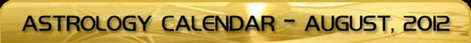 2012 Astrology Calendar - August