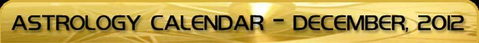 2012 Astrology Calendar - December