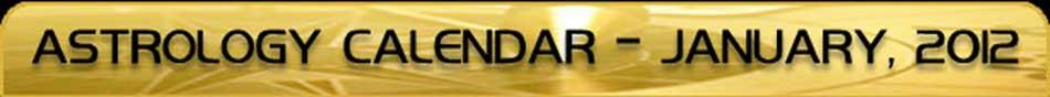 2012 Astrology Calendar - January