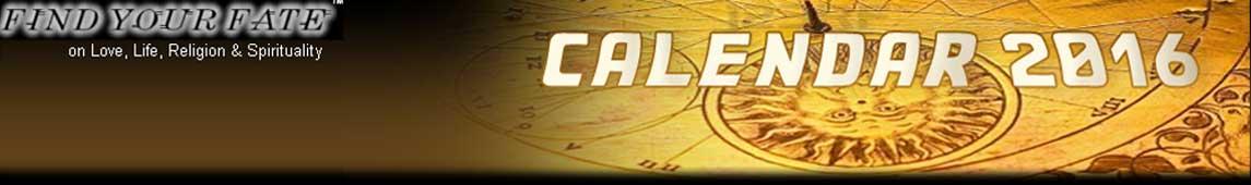 2016 Astrology Calendar