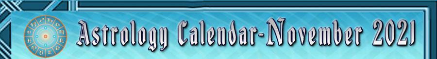 2021 Astrology Calendar - November