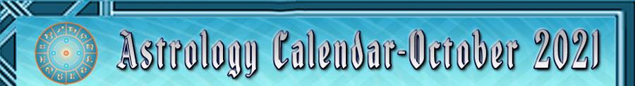 2021 Astrology Calendar - October