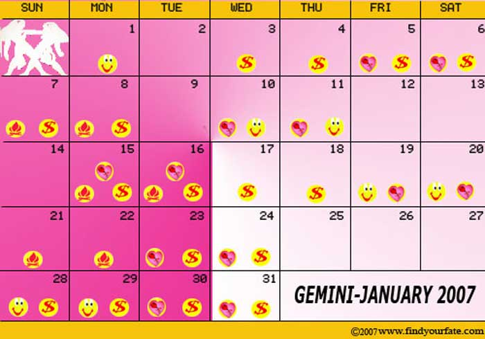 gemini astrological calendar