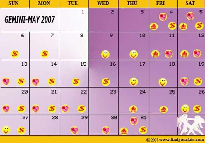Virgo Calendar May : Astrology calendars for all zodiac signs gemini