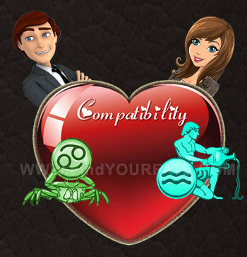 aquarius woman dating a cancer man Aquarius woman compatibility  when an aquarius woman is dating an aries man you can be sure the love match  dating for an aquarius woman and cancer man may not .
