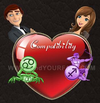 Cancer Man-Sagittarius Woman Compatibility