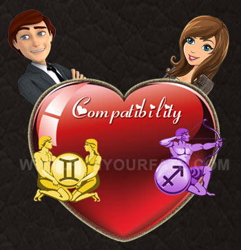 Sagittarius woman and gemini man love