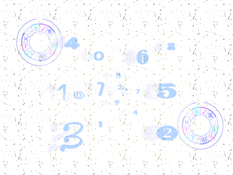Numbers  - Free Astrology Stationery