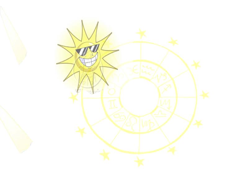 YellowSun - Free Astrology Stationery